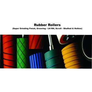 RUBBER ROLLER FOR ROTOGRAVURE PRINTING MACHINE