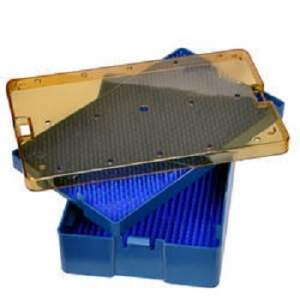 Medium Deep Plastic Sterilization Tray With Silicon Mat