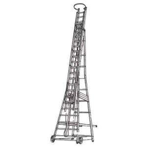 Rubber Wheeled Tower Ladder