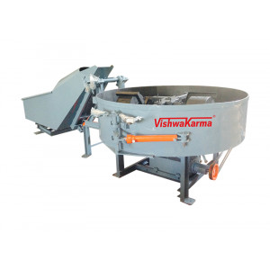 Pan And Roller Mixer With Hydraulic Hopper