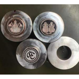 Polished Silver Coin Die