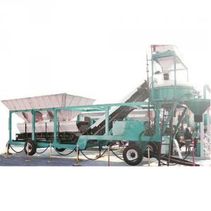 Pan Mixer Type RMC Concrete Plant