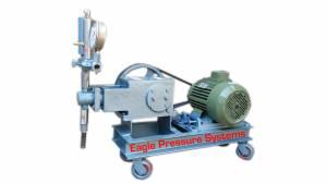 Trolley mounted high pressure hdyro test pumps
