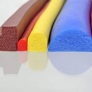 Silicone Rubber Sponge Profile Section