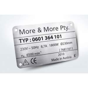 Aluminium Anodized Label Manufacturer In Rajkot