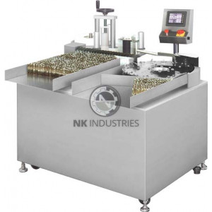 Automatic Vertical Rotary Ampoule / Vial Sticker Labeling Machine