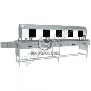Manual Vial / Bottle Inspection Machine With Black And White Board